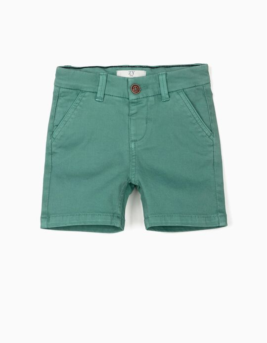 Chino Shorts for Baby Boys, Green