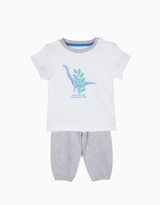 Pijama T-shirt e Calças Dinossauro