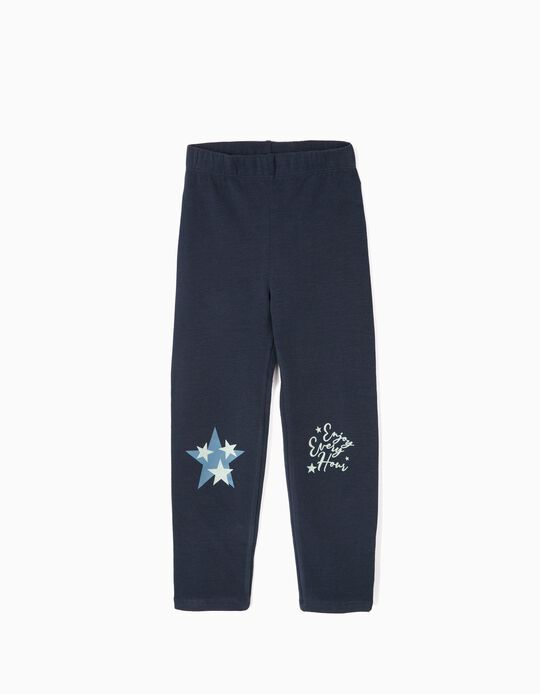 Leggings para Niña 'Enjoy Every Hour' Azul
