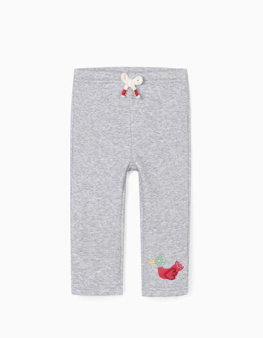Pantalon de Sport Bébé Fille 'Cute Duck', Gris