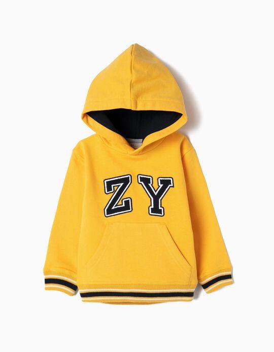 Sweatshirt para Bebé Menino 'ZY', Amarelo
