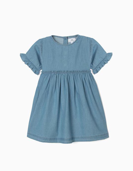 Robe Denim fille, bleu clair
