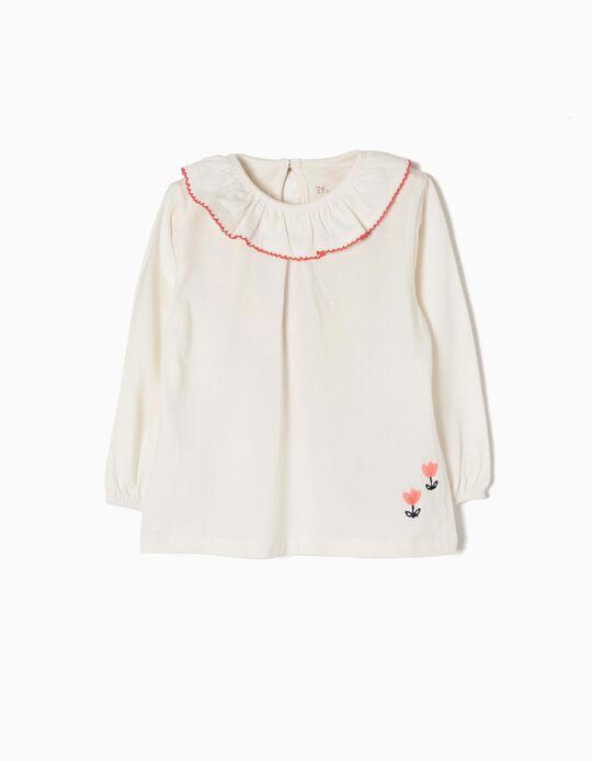 Camiseta de Manga Larga Flor