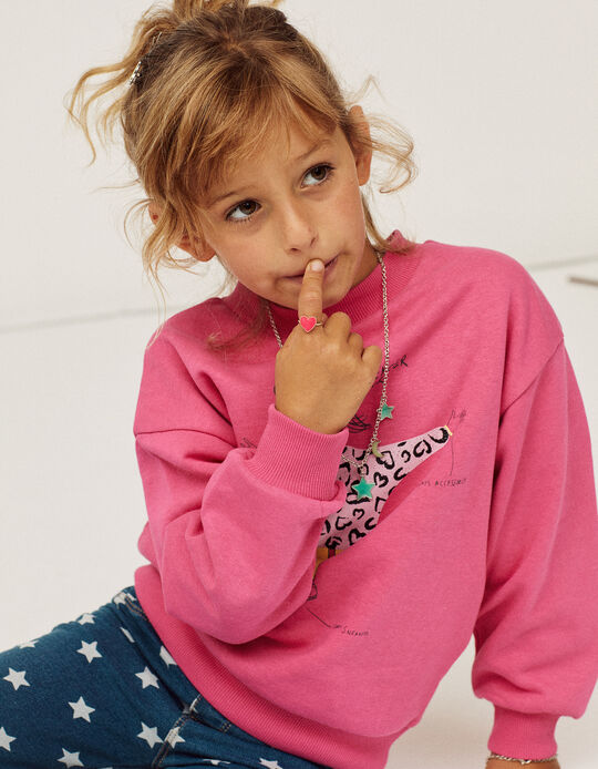 Sweatshirt for Girls 'Cool Influencer', Pink