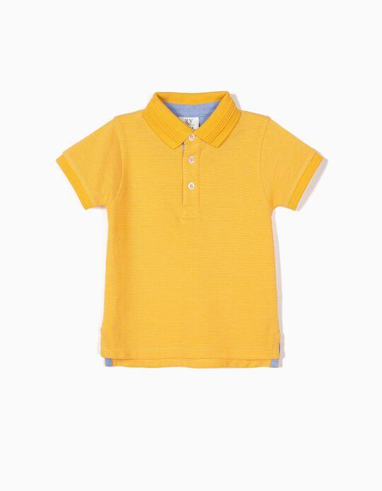 Polo para Bebé Menino, Amarelo