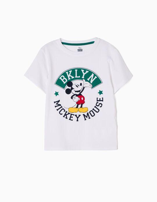 Camiseta Mickey BKLYN Blanca