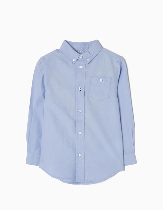 Camisa Manga Comprida para Menino, Azul