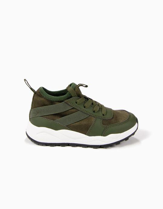 Zapatillas de Dos Materias Verdes