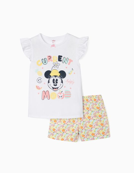 Pijama para Niña 'Happy Minnie', Blanco/Multicolor
