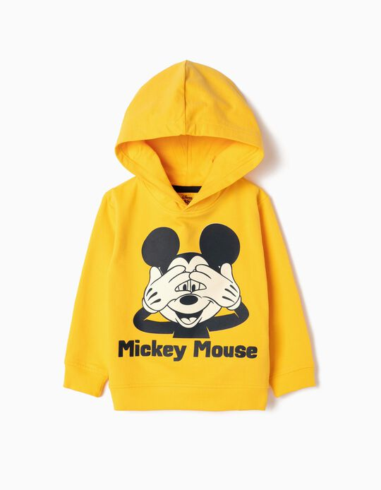 Hoodie for Baby Boys 'Mickey', Yellow