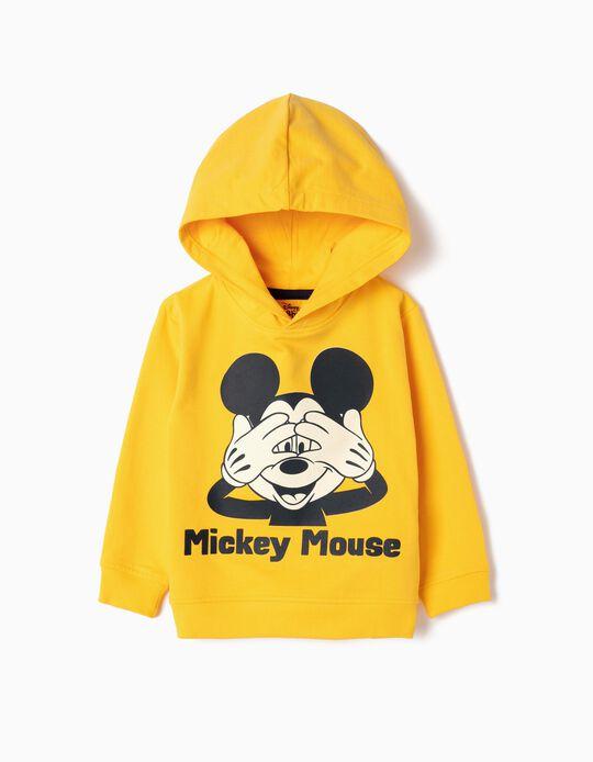 Sudadera con Capucha para Bebé Niño 'Mickey', Amarillo