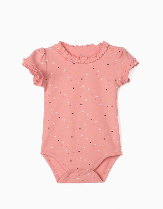 Bodysuit with Ruffles for Baby Girls, Pink