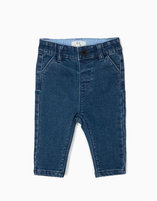 Pantalón Vaquero para Recién Nacido, Azul