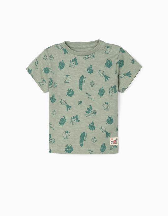 T-shirt para Bebé Menino 'Veggies & Fruits', Verde