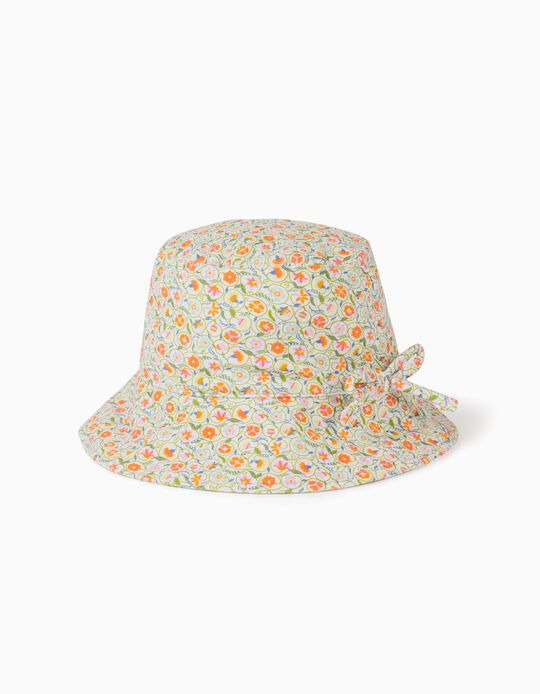 Hat for Girls & Babies, UV 80 Protection, 'Flowers', Multicolour