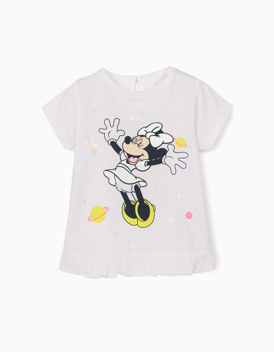 T-shirt bébé fille 'Minnie Mouse', blanc