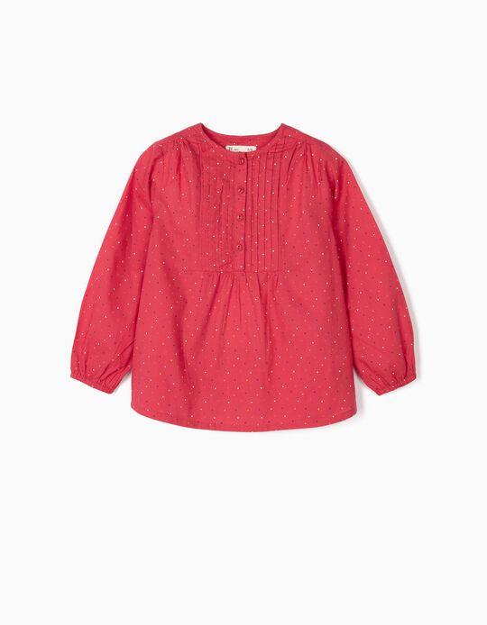 Blusa para Niña 'Lunares', Rosa