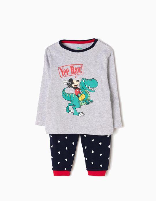 Pijama de Manga Larga y Pantalón Mickey & Dino