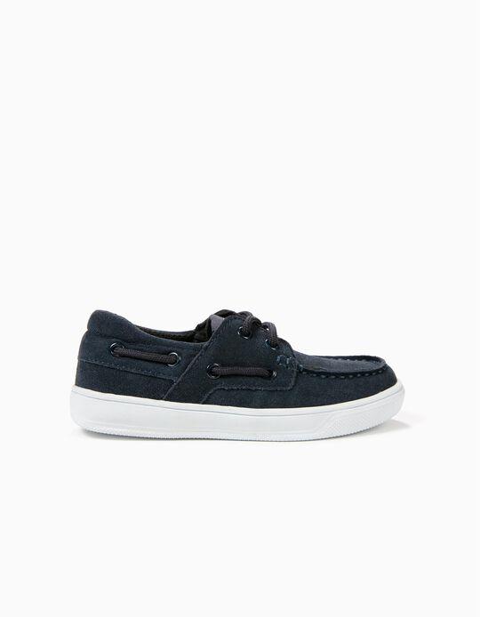 Zapatos de Ante para Niño, Azul Oscuro