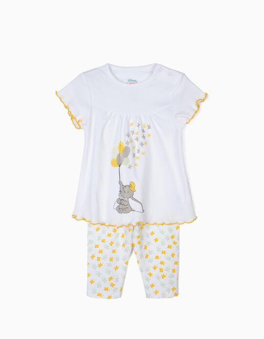 Pijama para Bebé Niña 'Dumbo', Blanco