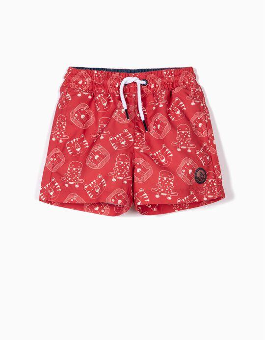 Bañador Short para Bebé Niño Antirrayos UV 80, Rojo