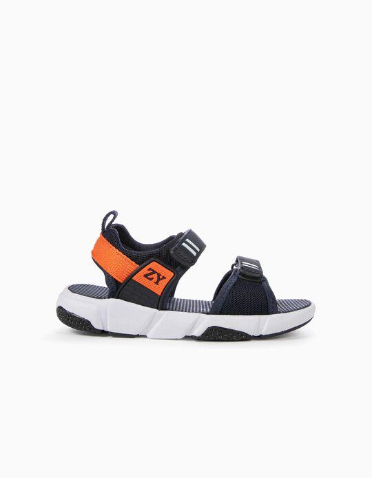 Sandálias Chunky para Menino, Azul Escuro