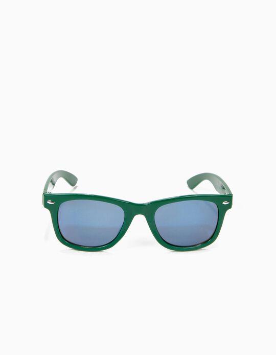 Lunettes de Soleil Garçon, Vert et Bleu