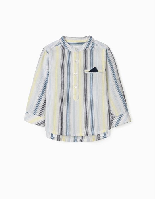 Striped Shirt for Baby Boys, Multicoloured