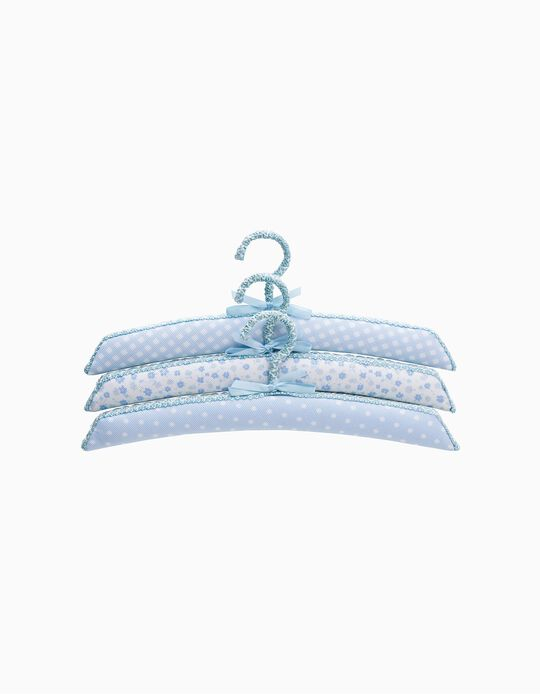 Set of 3 Hangers by Saro, Blue