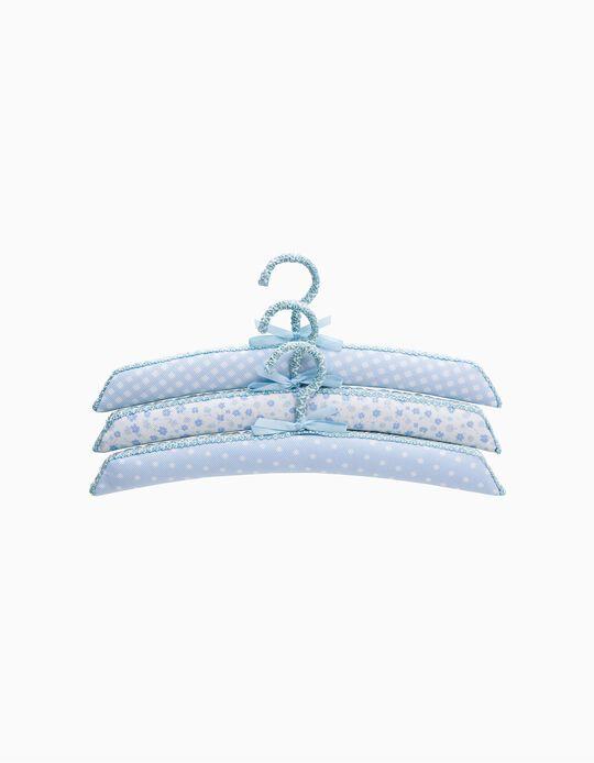 Porte-manteau Saro Bleu Mix 3pçs.