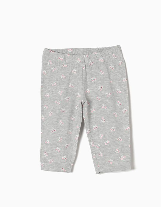 Leggings Curtas para Menina 'Sunglasses', Cinza