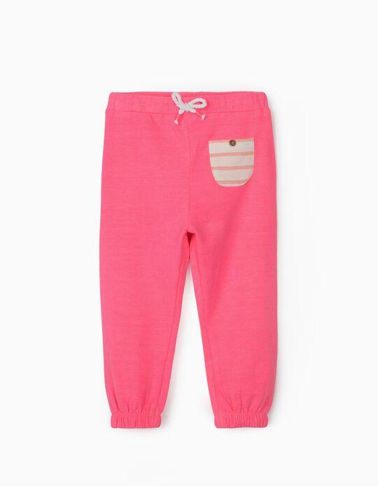 Pantalón de Chándal para Bebé Niña, Rosa