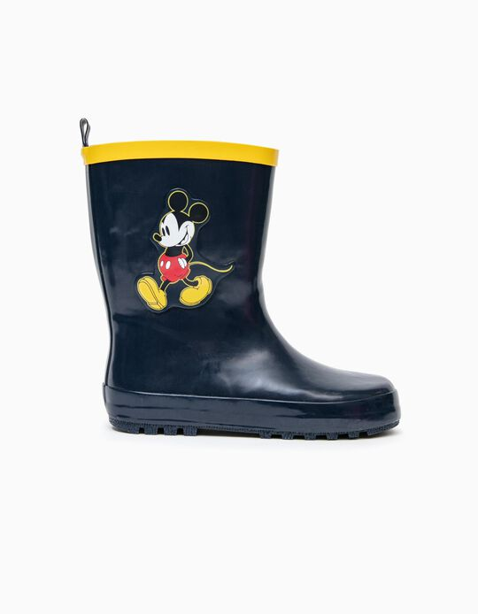 Galochas de Borracha para Menino 'Mickey', Azul Escuro