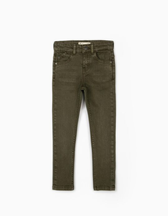 Twill Trousers for Boys, Green