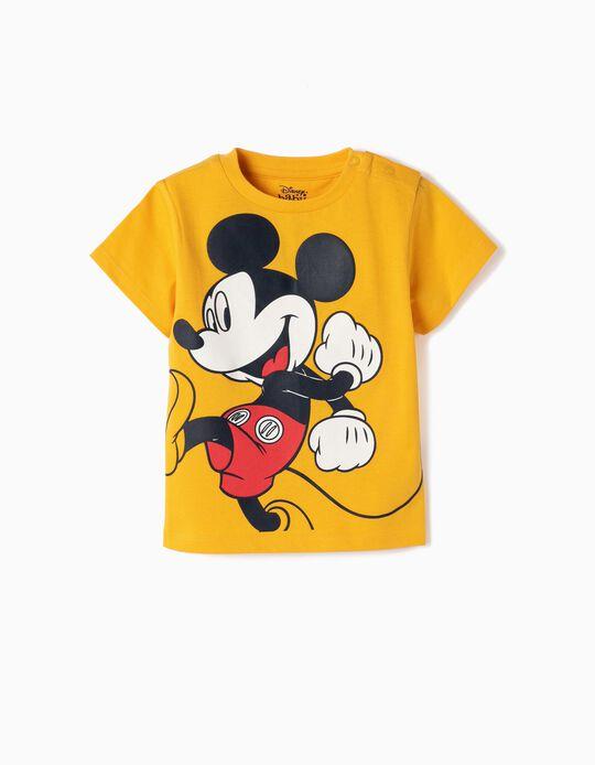 T-shirt para Bebé Menino 'Mickey' , Amarelo