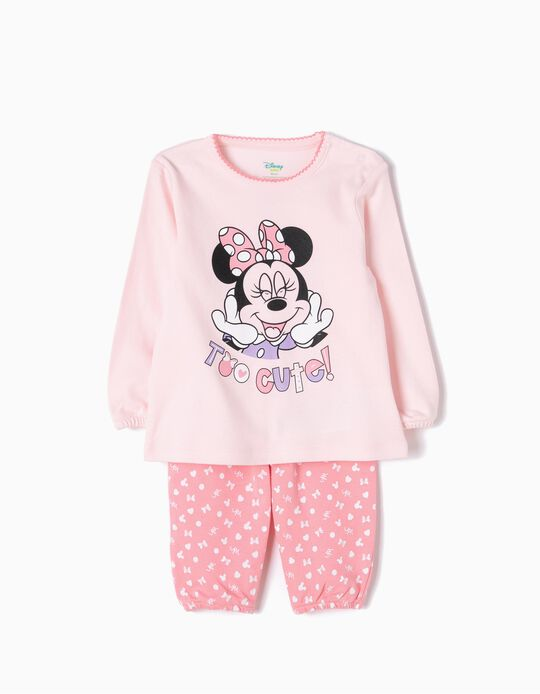 Pijama Manga Comprida e Calças Minnie Cute