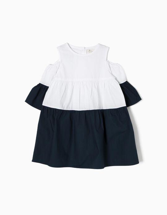 Vestido Blanco y Azul