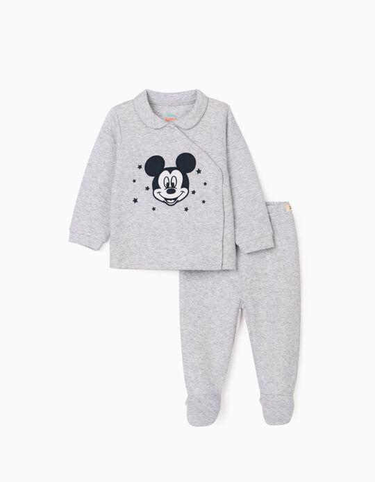 Pyjama Nouveau-né, 'Mickey', Gris