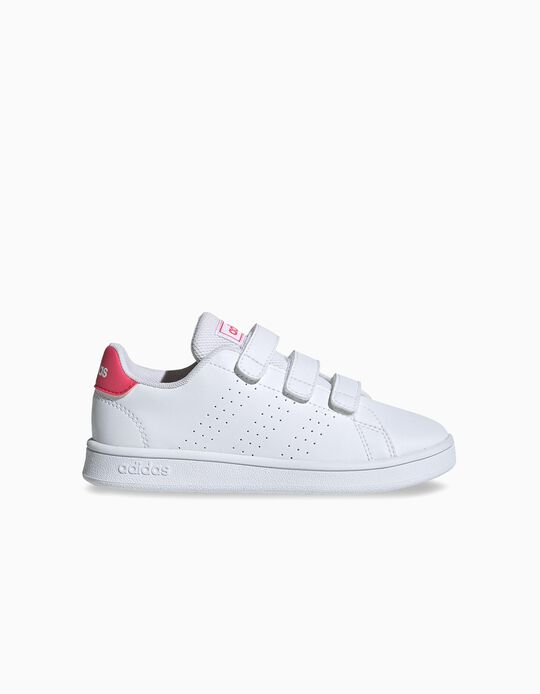 Trainers for Children 'Adidas Advantage', White/Pink