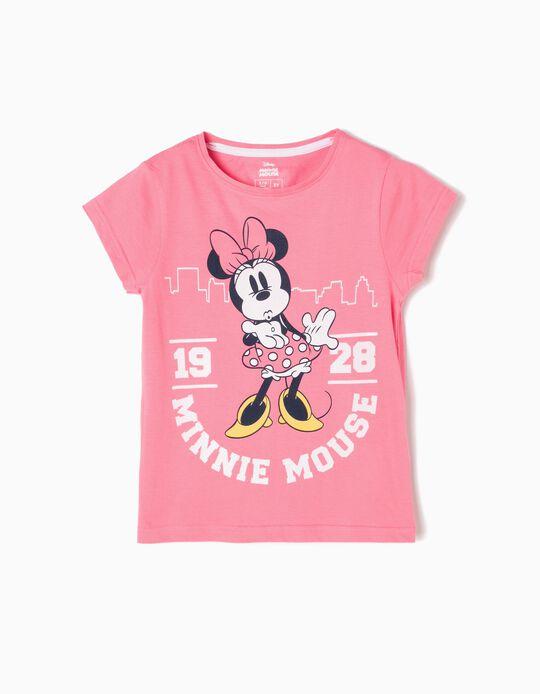 Camiseta Minnie Kiss Rosa