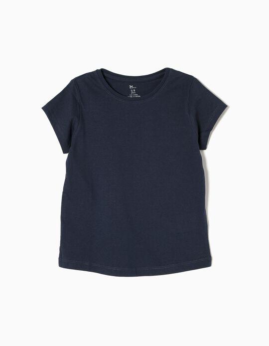T-shirt para Menina, Azul Escuro