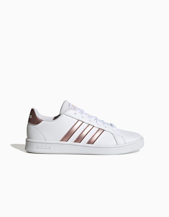 Sapatilhas 'Adidas Grand Court', Branco/ Dourado