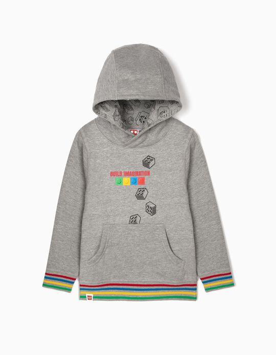 Sweatshirt com Capuz para Menino 'Lego', Cinza