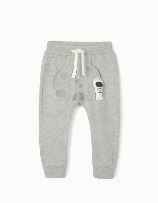 Joggers for Baby Boys, 'Astronaut', Grey