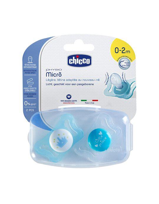 Sucette Physio Micro 0-2M+ Chicco 2Un.