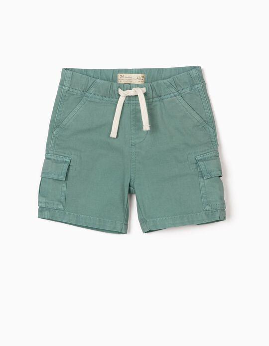 Short Cargo para Bebé Niño, Verde