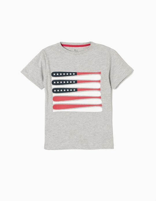 Camiseta EUA Gris