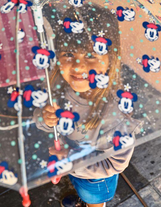 Umbrella for Girls 'Minnie', Transparent/Pink
