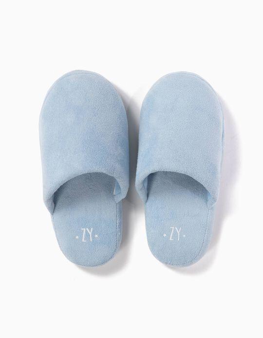 Pantuflas de Casa Azul Claro