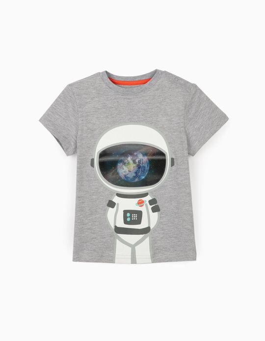 T-shirt for Baby Boys 'Astronaut', Grey